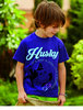 """Husky NOT A DOG""   Kinder T-Shirt"