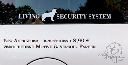 LIVING SECURITY SYSTEM Aufkleber