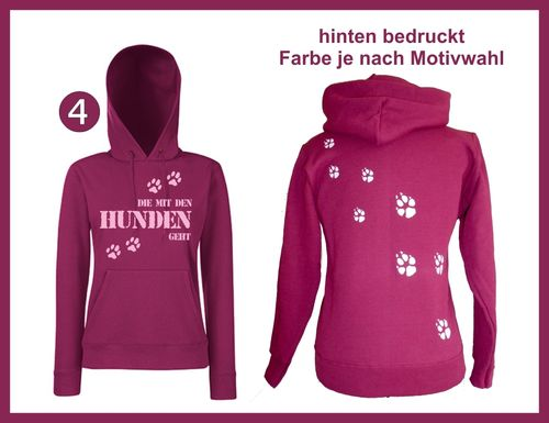 Hooded Sweat Lady-Hunden geht