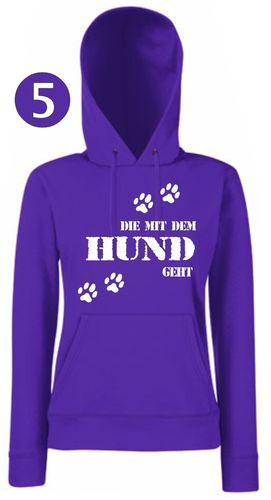 Hooded Sweat Lady-Hund geht
