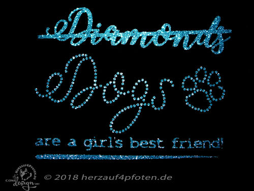 Girlie Sweat -Diamonds Dogs Strass-Look