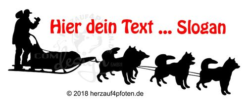 Musher-Huskygespann-6er - Dein Text
