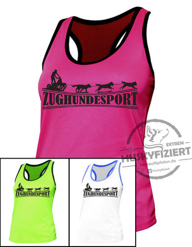 Damen Sport Tank Top Zughundesport Trainingswagen ©