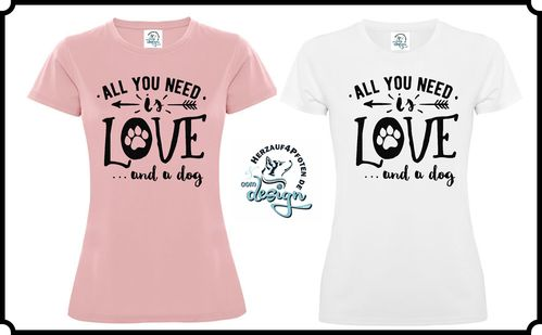 Ladies Active Shirt - All LOVE